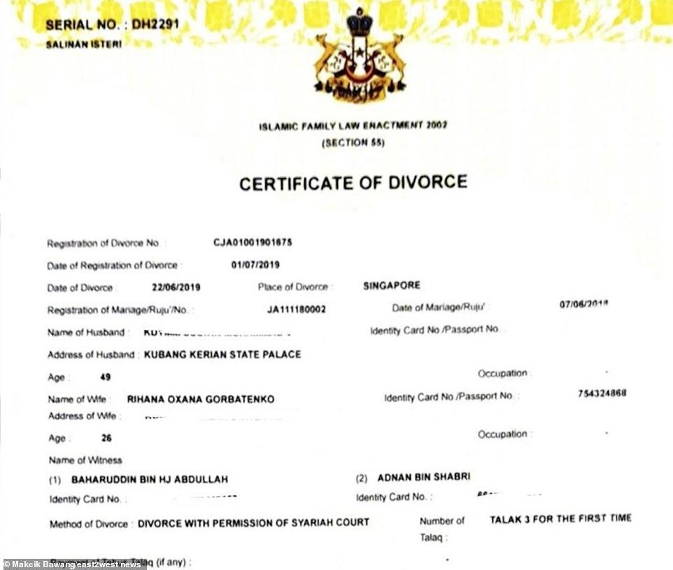 Bien Divorcer Calendrier 2019.Le Divorce Du Roi De Malaisie Son Ex Epouse Raconte Enfin
