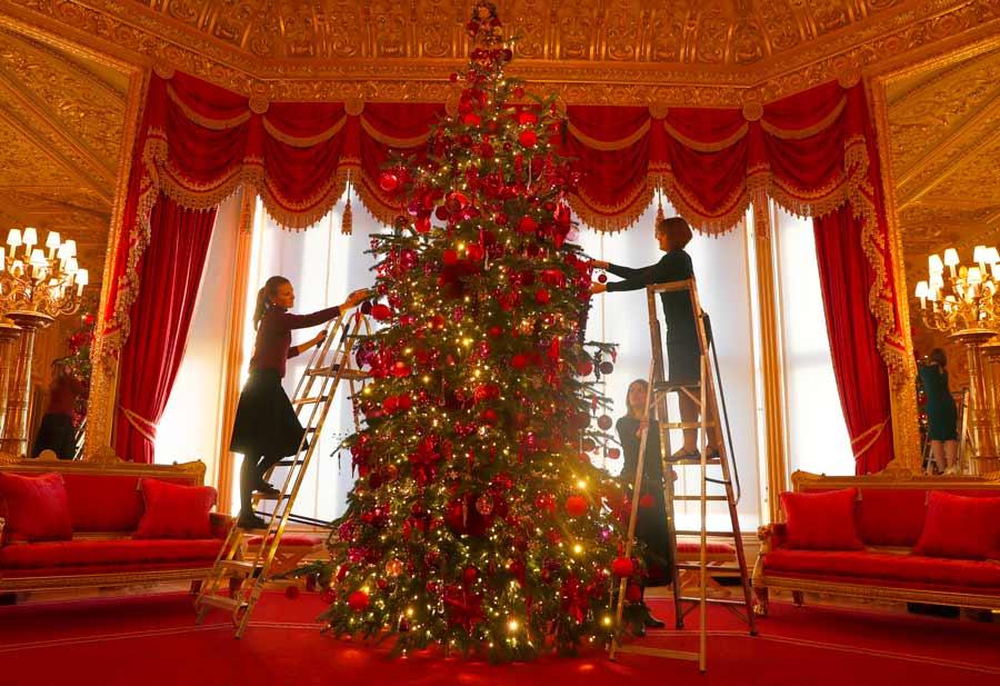 Déco De Noël Royale Les Majestueux Sapins De Noël Ont été